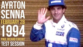 Ayrton Senna 1994 F1 Paul Ricard Circuit Williams Renault Test Session Formula One Race France Video