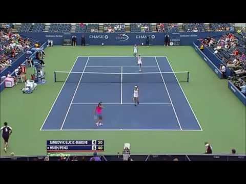 Jankovic/Lucic-Baroni vs Peng/Hsieh 2013 US Open Highlights