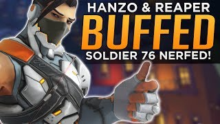 Overwatch: Hanzo, Reaper & Genji BUFFED! - Soldier NERFED!
