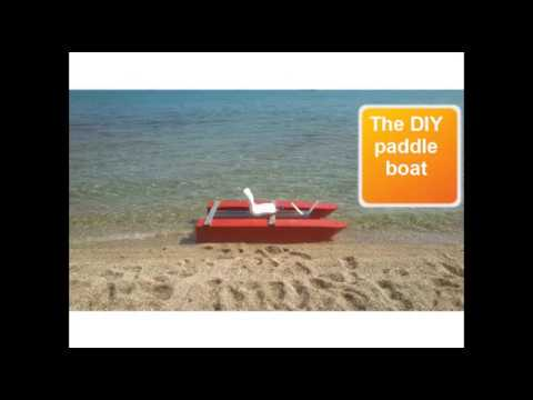 DIY polystyrene pedal powered paddle boat