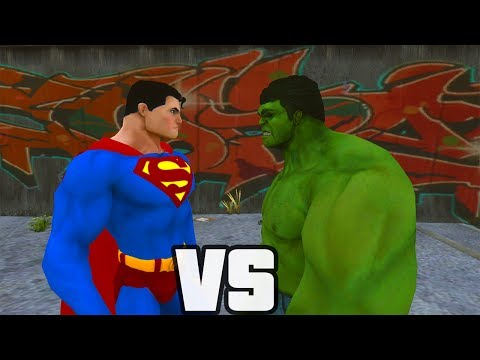 Superman Vs Hulk - O Combate video
