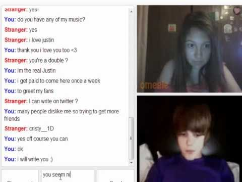 Justin Beiber Omegle Prank video