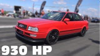 930 HP Audi 80 VR6 Quattro 0-285 KM/h TOP SPEED RUN!