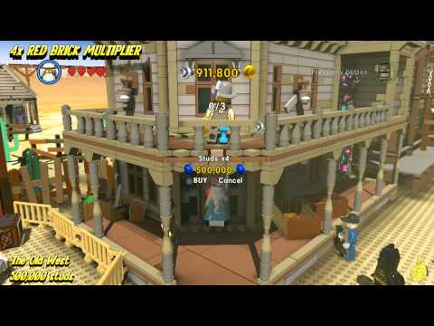The Lego Movie Videogame: RED BRICK Stud Multiplier Locations (All Red Brick Stud Multipliers) - HTG