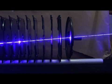 2W 445nm Blue Laser versus 11 CD cases
