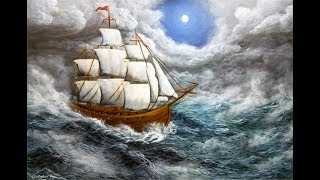 Lost at Sea - Full Acrylic Painting Tutorial, Using Only 6 Colors