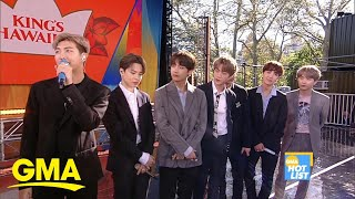 'GMA' Hot List: BTS says their fan 'army' is their 'motivation'