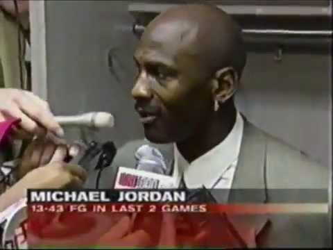Michael Jordan (Age 35) & Kobe Bryant (Age 19) Post Game Talk (1998)