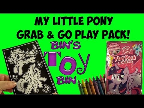 My Little Pony Grab & Go Play Pack! MLP Coloring Fun! Review by Bin's Toy Bin