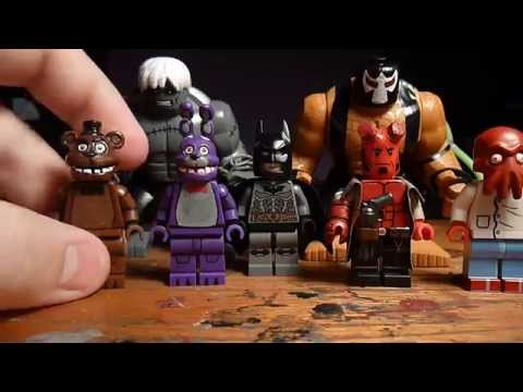 Lego Five Nights At Freddy's Bonnie and Freddy, Hellboy, and DC Big Figs!