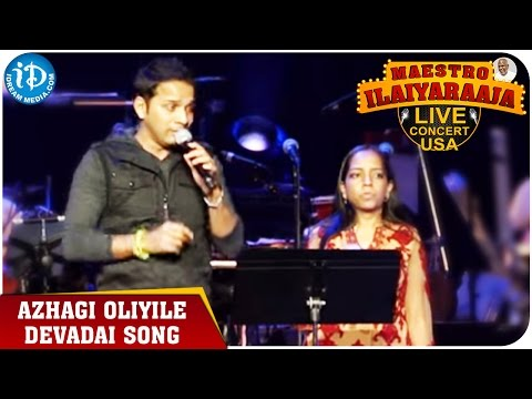 Maestro Ilaiyaraaja Live Concert - Azhagi Oliyile Devadai Song - Karthik    San Jose, California