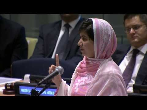 WorldLeadersTV: MALALA YOUSAFZAI, PAKISTANI SCHOOLGIRL SHOT by TALIBAN SPEAKS to the U.N.