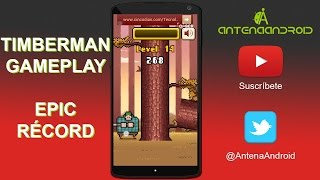 GAMEPLAY TIMBERMAN EPIC RÉCORD