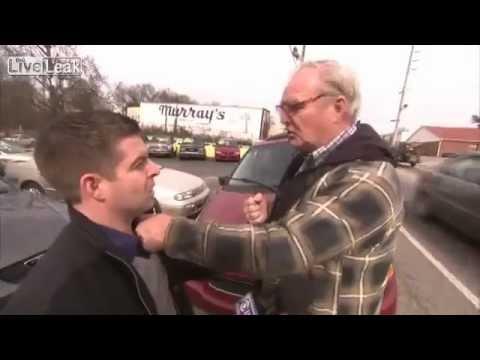 Cokeman2423's Grandpa rages on random guy