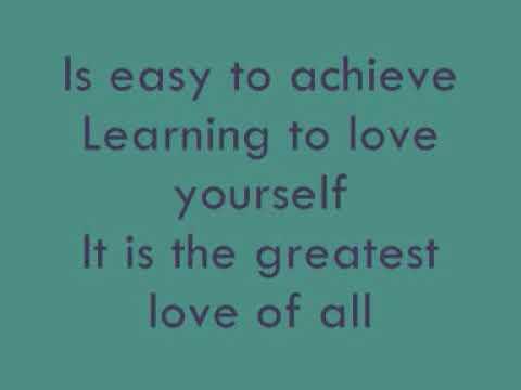 Whitney Houston - Greatest Love Of All [Lyrics]