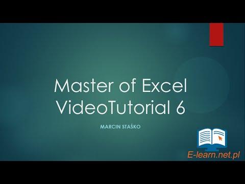 VideoTutorial #6 Master Of Excel 2013 Triki I Porady