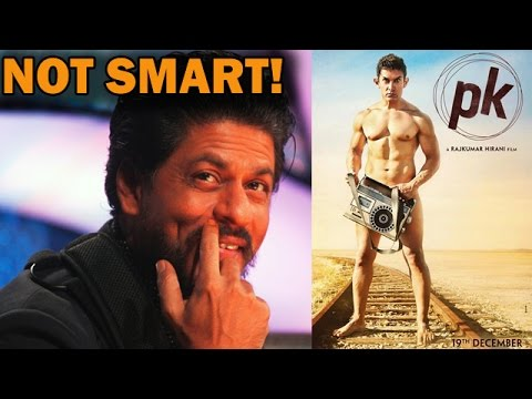 Shahrukh Khan's witty reaction on Aamir Khan's Peekay poster! | Bollywood News