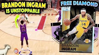 FREE DIAMOND BRANDON INGRAM IS UNSTOPPABLE!! DROPS 66 POINTS AND IS NASTY!! NBA 2K19