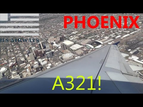Rolling Takeoff! US Airways Airbus A321 Takeoff at Phoenix Sky Harbor International Airport