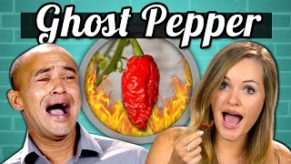 ADULTS vs. FOOD - GHOST PEPPER CHALLENGE