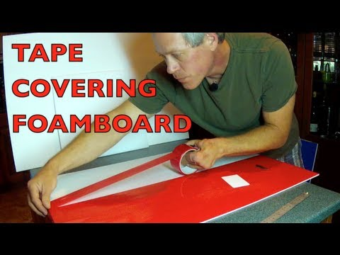 TAPE COVERING FOAMBOARD - For RC Airplane Construction