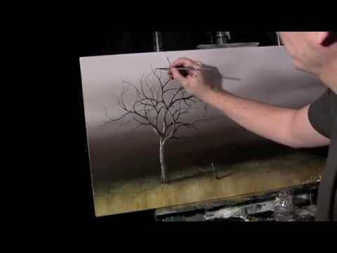 Acrylic Time Lapse Painting Lessons Old Tree by Tim Gagnon 18 X 36 http://www.timgagnon.com