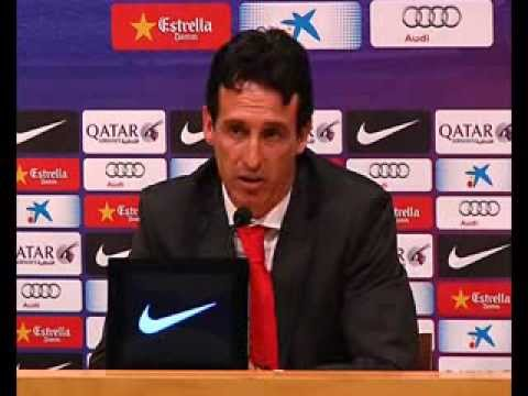 Rueda prensa Unai Emery, Barcelona. 14/09/13. Sevilla FC