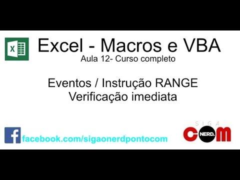 #12 - Macros e VBA - Excel - Curso Completo e Gratuito