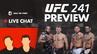 MMA On Point Live Chat: UFC 241 Preview - Daniel Cormier, Nate Diaz, Stipe Miocic, Anthony Pettis