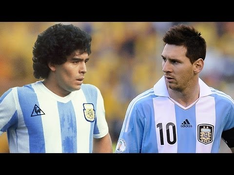 Lionel Messi Vs Diego Maradona ● Amazing Skiils HD