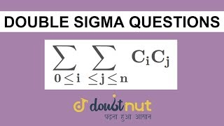 DOUBLE SIGMA QUESTION || Binomial Theorem || JEE Advanced 2019