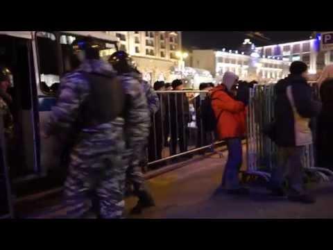Манежка: задержания, 30 декабря / Manezhnaya: protesters and detentions, 30 december.