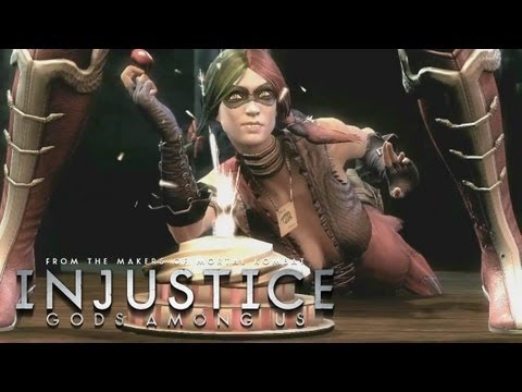 Injustice: Gods Among Us - 'Wonder Woman vs Harley Quinn Gameplay' TRUE-HD QUALITY