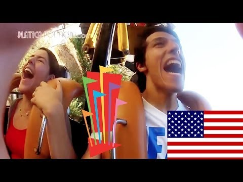 Nuevos Gritos en Six Flags Magic Mountain de Los Angeles California | Los Polinesios Vlogs