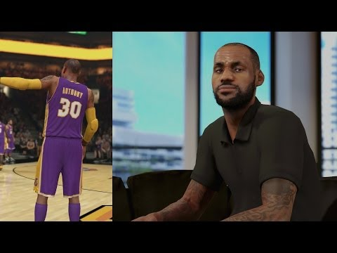 NBA 2K14 PS4 My Career LeBron Recruiting