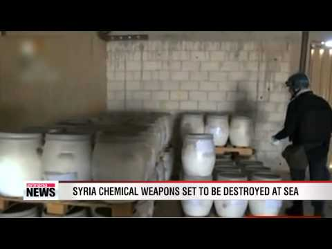 Syria chemical weapons to be destroyed out at sea