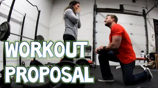 Surprise Proposal In The Gym!!