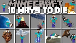 Minecraft 10 WAYS TO DIE MOD / FIND OUT HOW YOU WILL DIE IN MINECRAFT!! Minecraft