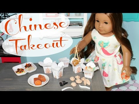 DIY American Girl Chinese Takeout Food Craft