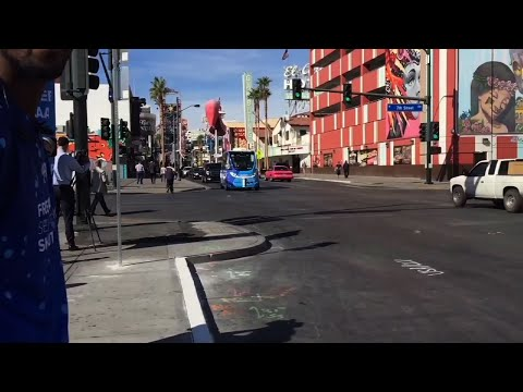 Driverless Shuttle Debuts In Vegas