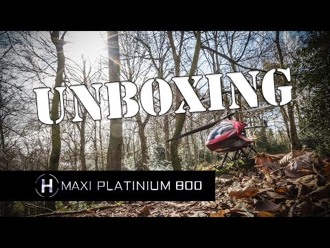 Maxi Platinum 800 Helicopter Unboxing