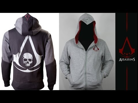 Official Assassin's Creed 4 Blackflag Hoodie/Jacket Review & Comparison Connor Kenway Hoodie/Sweater