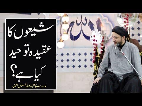 شیعوں کا  عقیدہ توحید کیا ہے؟  |علامہ سیّد شہنشاہ حسین نقوی