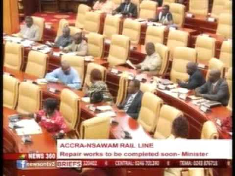 News360- Accra -Nsawam railline repair works to be completed soon - Minister -  4/11/2015