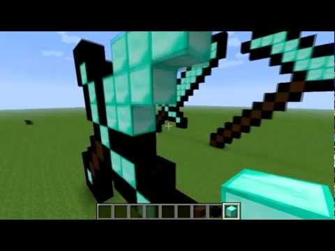 Minecraft -  How To Make A Sword Statue [HD]