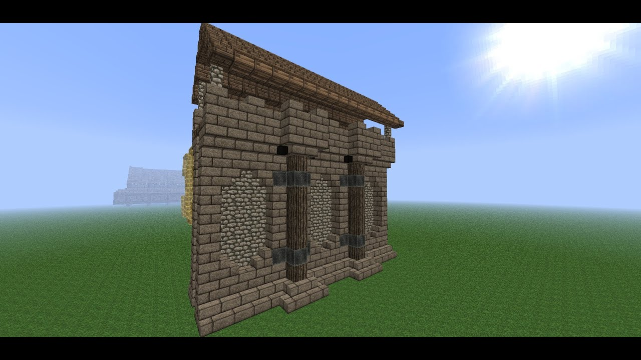 minecraft medieval wall tutorial how to build a wall. Black Bedroom Furniture Sets. Home Design Ideas
