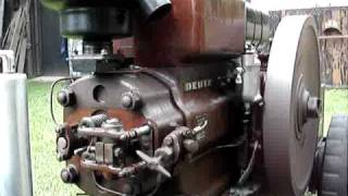 Deutz MAH220 (1939) warm start and slow running