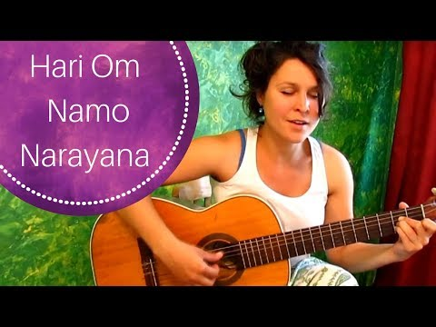Beautiful Indian Mantra hari Om Namo Narayana. Indian Bhadjan video