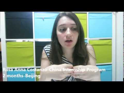 Meet Rosa Anna Rita | Beijing Internship | Tourism & Travel | CRCC Asia 2014