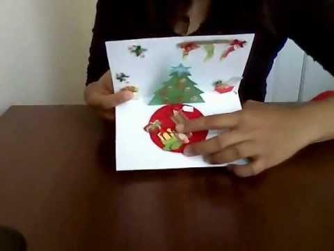 Tarjeta pop up navidad youtube - Hacer una tarjeta navidena ...